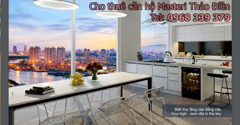 Cho thuê căn hộ Masteri Thảo Điền 1 2 3 phòng ngủ