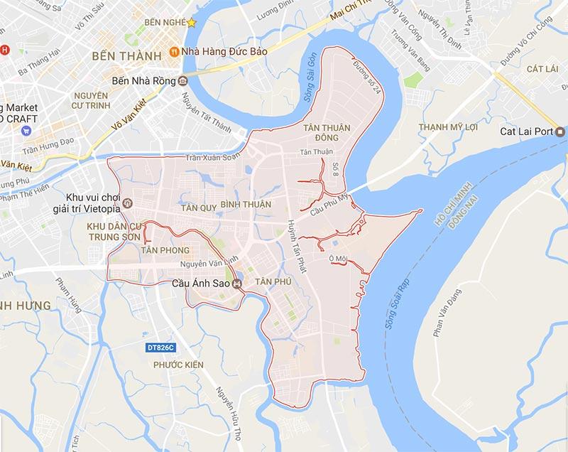 Vị trí dự án Vincity Quận 7 Sài Gòn