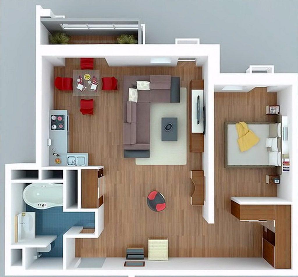 Bán căn hộ chung cư Vincity Q9 1 phòng ngủ