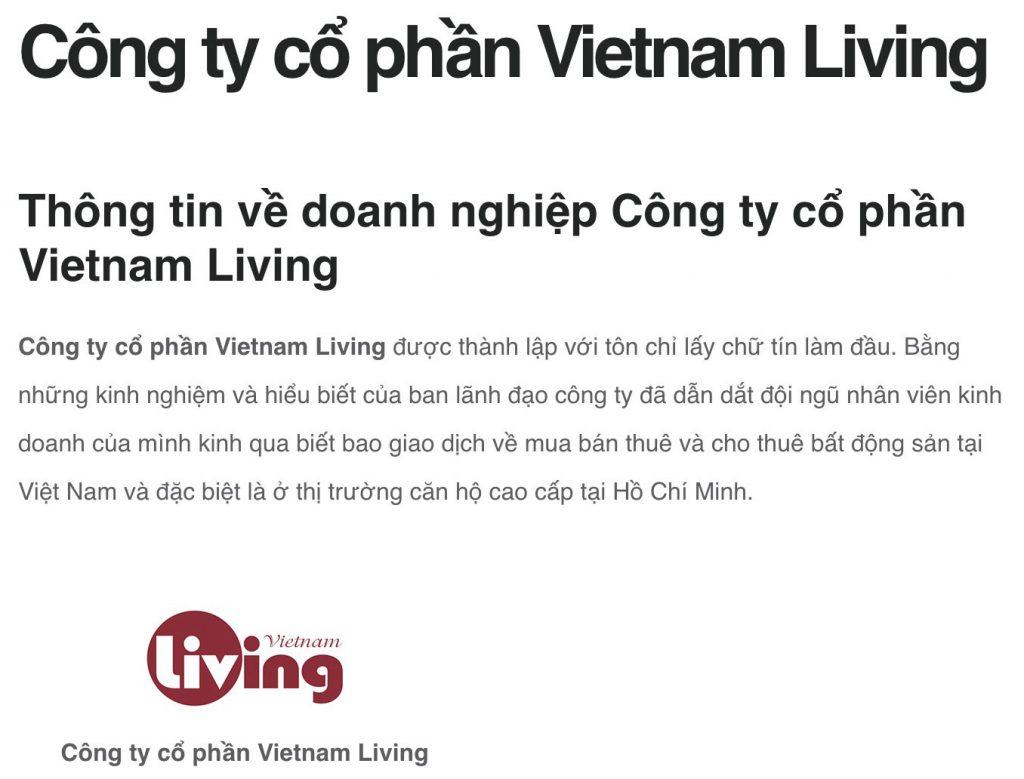 Công ty cổ phần Vietnam Living phân phối dự án Raemian City