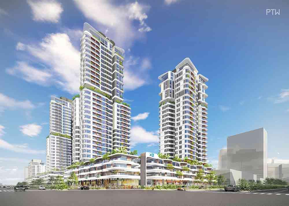 Khu căn hộ Thủ Thiêm Zeit River (Giai đoạn 1) của dự án đang được triển khai xây dựng